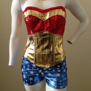 Wonder Woman Sequin Costume New with defects